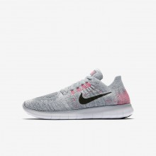 Nike Free RN Running Shoes For Boys Wolf Grey/Pure Platinum/Cool Grey/Black (994FAOLV)