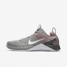 Nike Metcon DSX Training Shoes For Women Matte Silver/Rust Pink/Gunsmoke/White (996UDNGB)